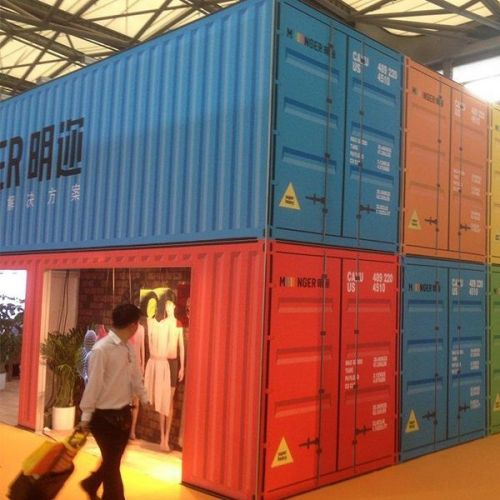 3 dimensional frame in pop-up container store