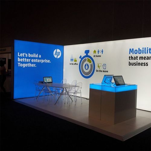 Free-standing exhibition display stand